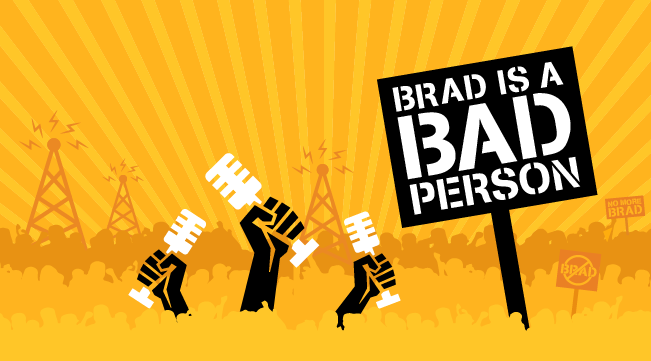 Logo for Brad is a Bad Person